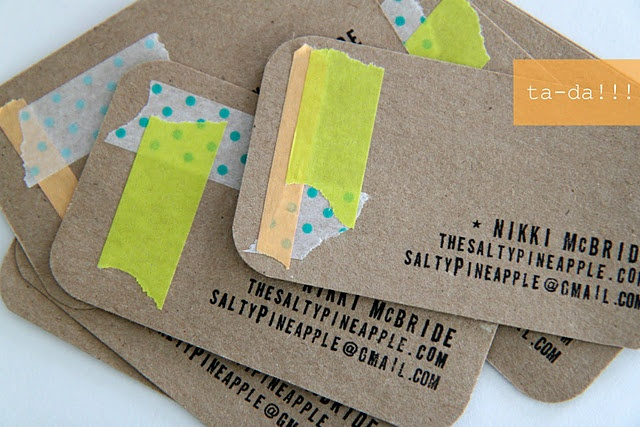 stamped and taped business cards:: the perfect creative biz card