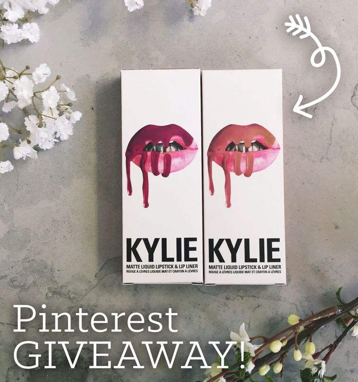 University Tees is giving away a Kylie Lip Kit! To enter, just make sure to follow University Tees on Pinterest and repin this post. Winner announced Friday, 6/17 at 5 PM EST