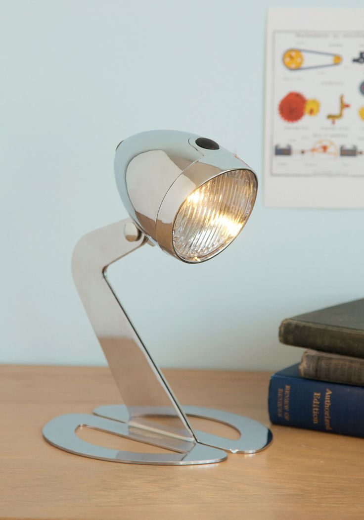 Chrome silver riding on inspiration lamp modcloth 30