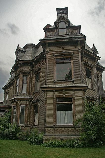 Abandoned Victorian mansion, who would ever want to leave this place.