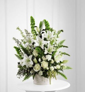 sympathy flower images | ... the types of flowers incorporated into funeral flower arrangements can