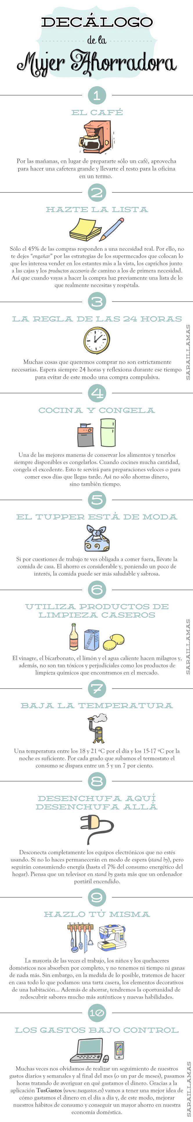 """""""Decálogo de la mujer ahorradora"""" en el Blog de Sarai Llamas"""