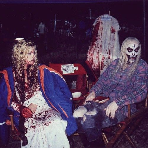 sheri moon zombie & bill moseley on the house of 1000 corpses set