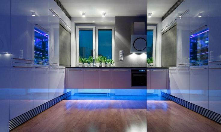 hoch zu beenden, kleinen slowakischen Wohnung verbessert mit LED Beleuchtung von vorgestellt Rudolf Lesňák