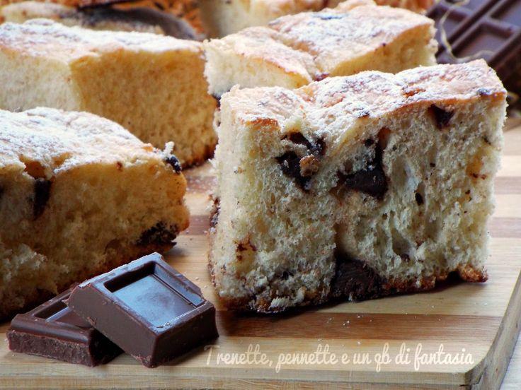 Morbida+Focaccia+dolce+ai+due+cioccolati