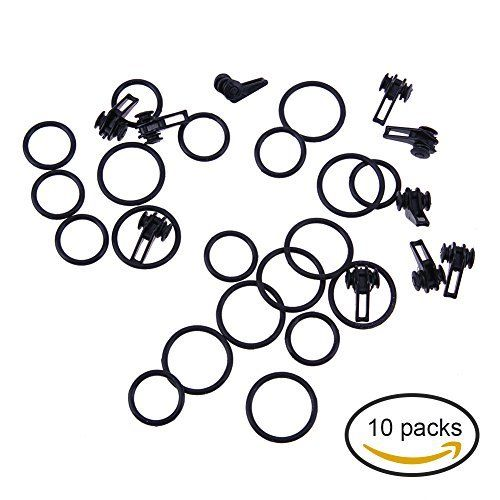 #fishingshopnow Alloet 10 Piece Fishing Rod Hook Keepers Plastic Equipped with 2 Rubber Rings Small Fishing Accessory