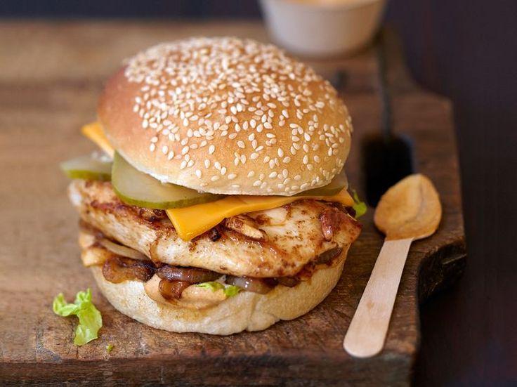 Burger poulet sauce noix de cajou