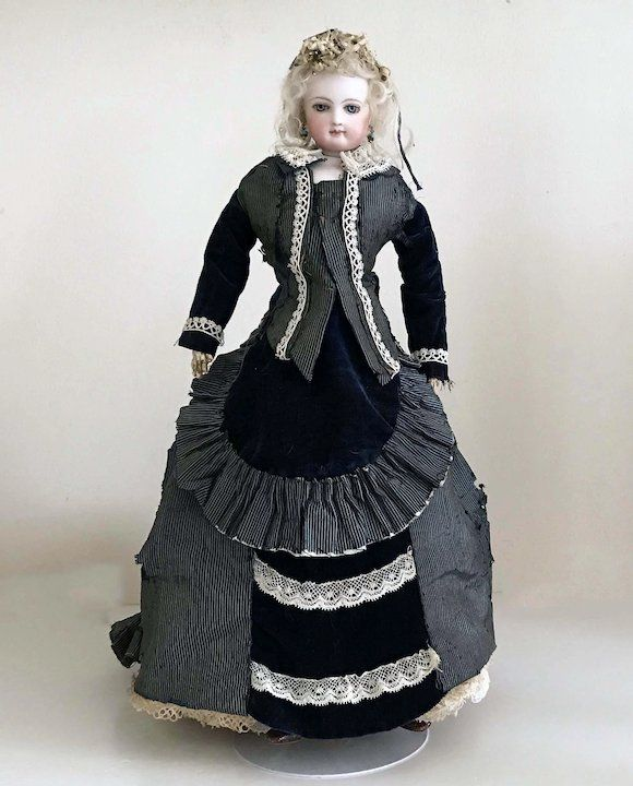 16 All Original 1870 80s Antique Jumeau French Fashion Doll Size 2