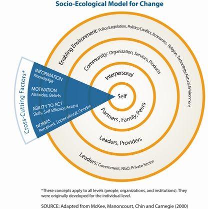 Social-ecological model for change