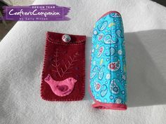 Mother's Day Gift – wallet and felt glasses pouch made using Papillion fabric in paisley turquoise and small floral, Linea fabric in azalea and peacock from Crafter's Companion. Also used Threaders felt pack. Designed by Sally Mitton #crafterscompanion.
