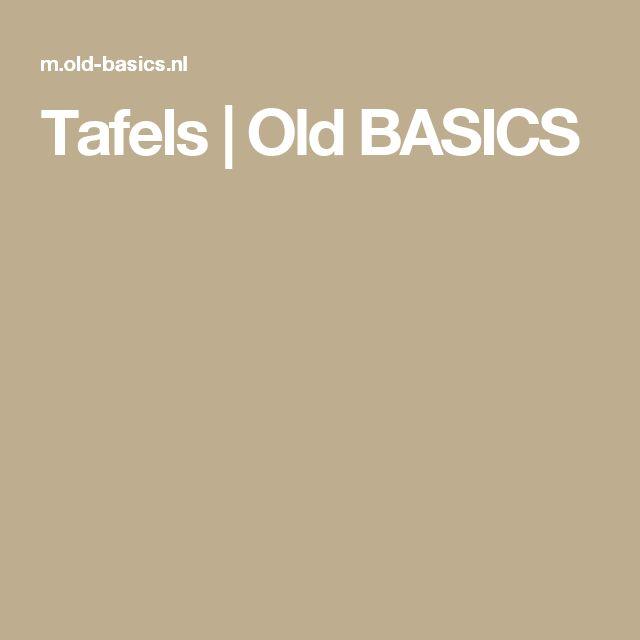 Tafels | Old BASICS