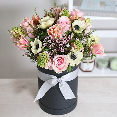 Spring Hat Box Bouquet With Free Express Delivery - From Lakeland