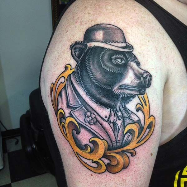 soylu ayı dövmesi