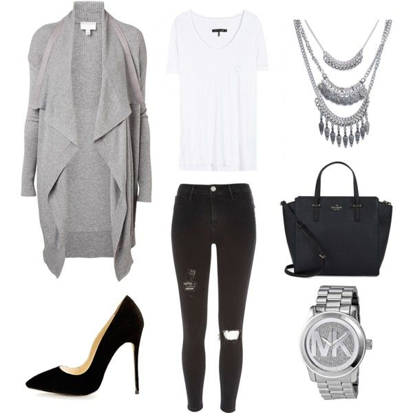 This would be my Wednesday look... by jadeclaire19 on Polyvore featuring rag & bone, Witchery, River Island, Kate Spade, Michael Kors and Wet Seal