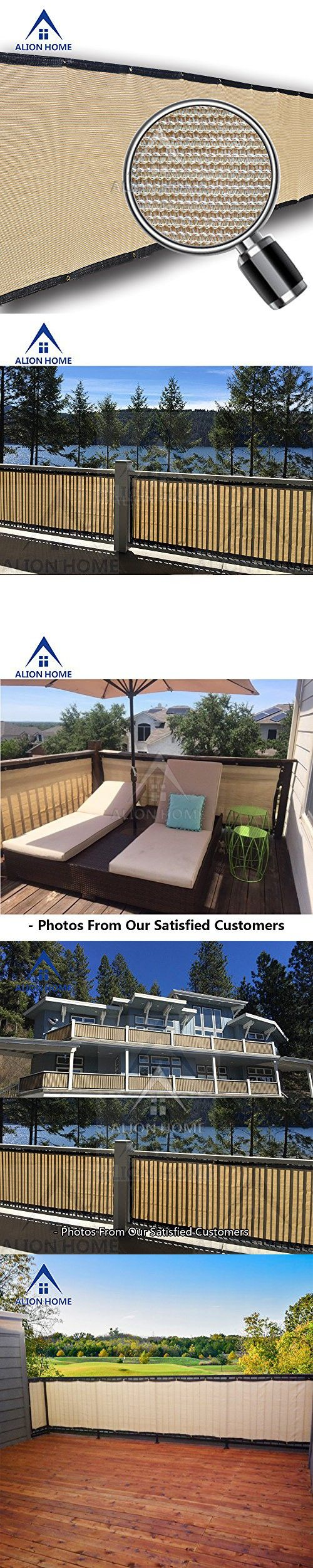 Alion Home Elegant Privacy Screen For Backyard Deck, Patio, Balcony ...