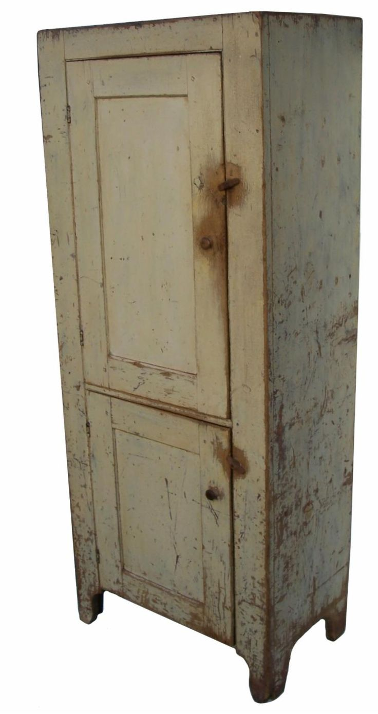 Y321 Early 19th century Lebanon County, Pennsylvania, painted double door Chimney  Cupboard, with - 50 Best ~~~OLD TIME CHIMNEY CUOBARDS~~~~ Images On Pinterest