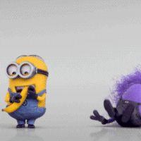 """Good"" Minion: Whatever you do, don't take my banana!!!"