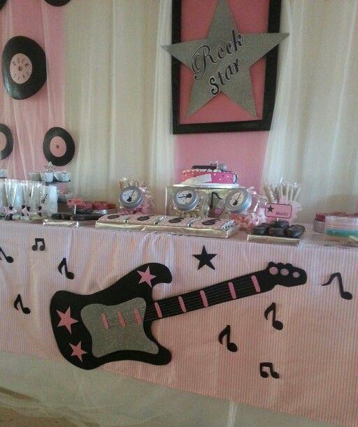 Resultado de imagen para fiesta tematica musical decoracion