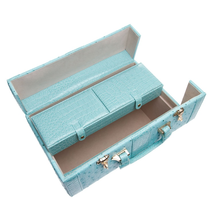All Aboard ~  retro chic travel vanity case..love the color
