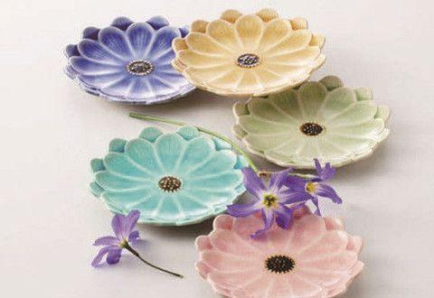 Concept Japan Kiku flower 5 Plate Set