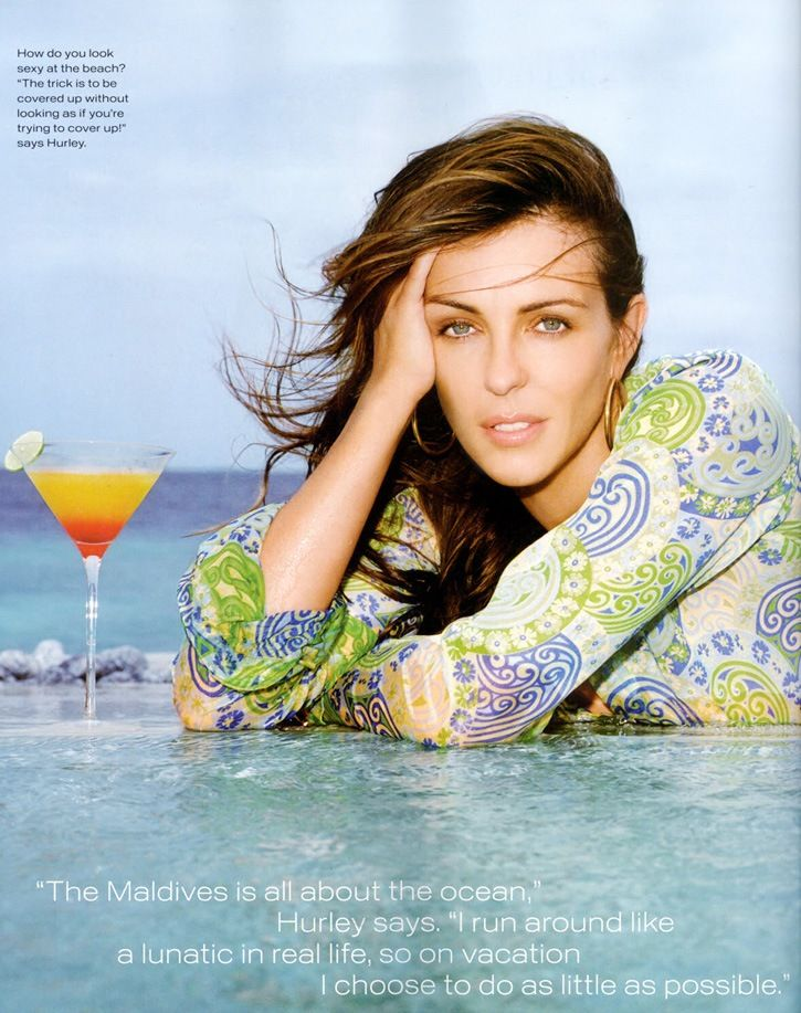 Элизабет Херли Мальдивы журнал InStyle / Elizabeth Hurley Maldives InStyle magazine