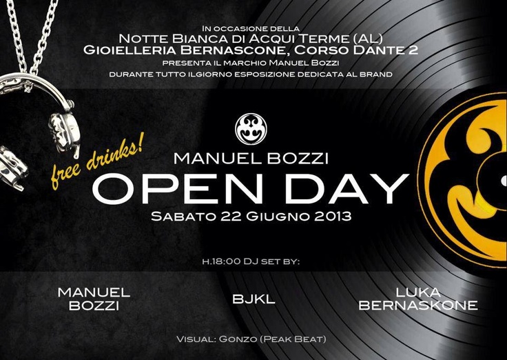 Open day! Free drinks!