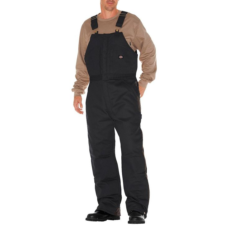 Dickies Men's Big & Tall Canvas Insulated Bib Overall- B
