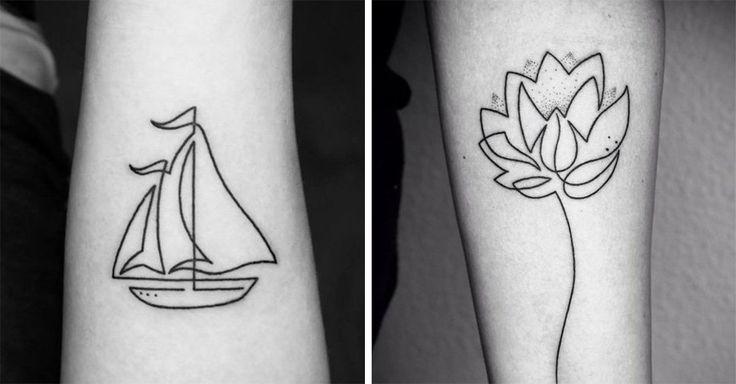 20 tatuajes extraordinariamente delicados hechos de una sola línea