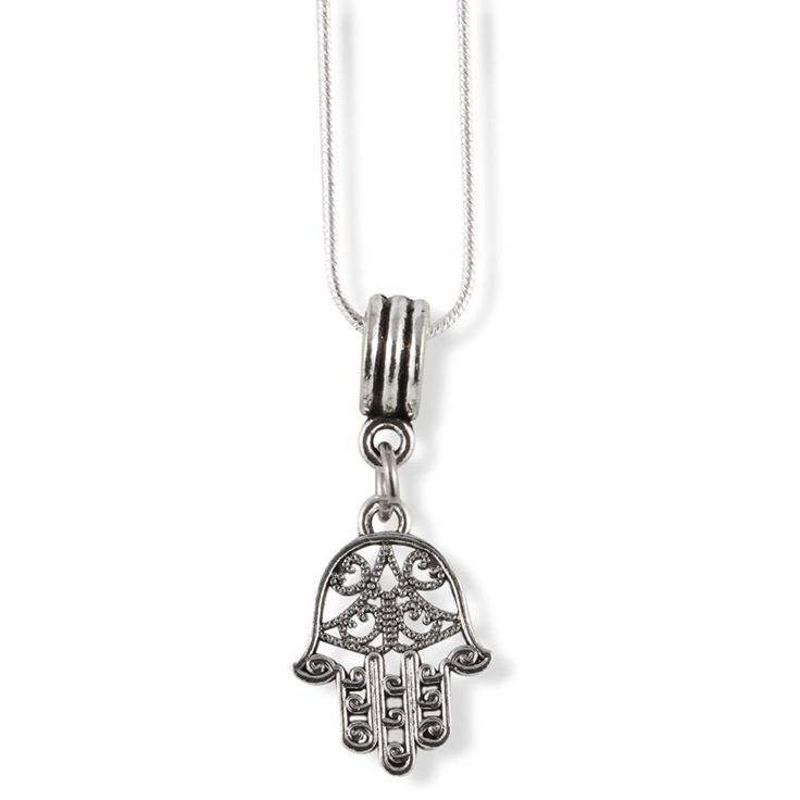 Hamsa Hand to Ward Off Evil Snake Chain Necklace