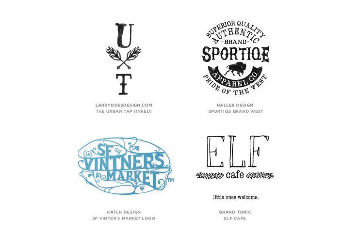 "Graphic design trends 2015:   ""Hand Type"" logos."