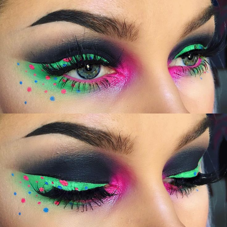 creative eye makeup @alyssamarieartistry - love how upper + lower lashline are connected + how the inner corner highlight pink is continued onto the lower waterline - might recreate with tamer colors
