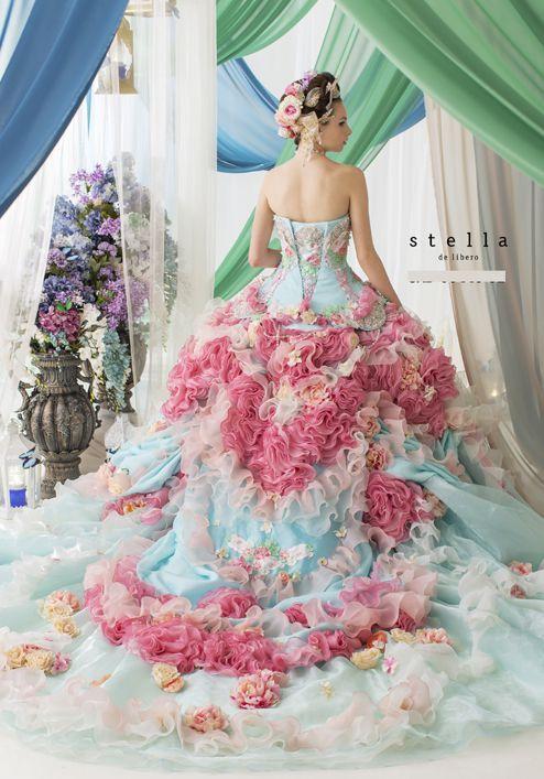 Stella de Libero rococo gown.