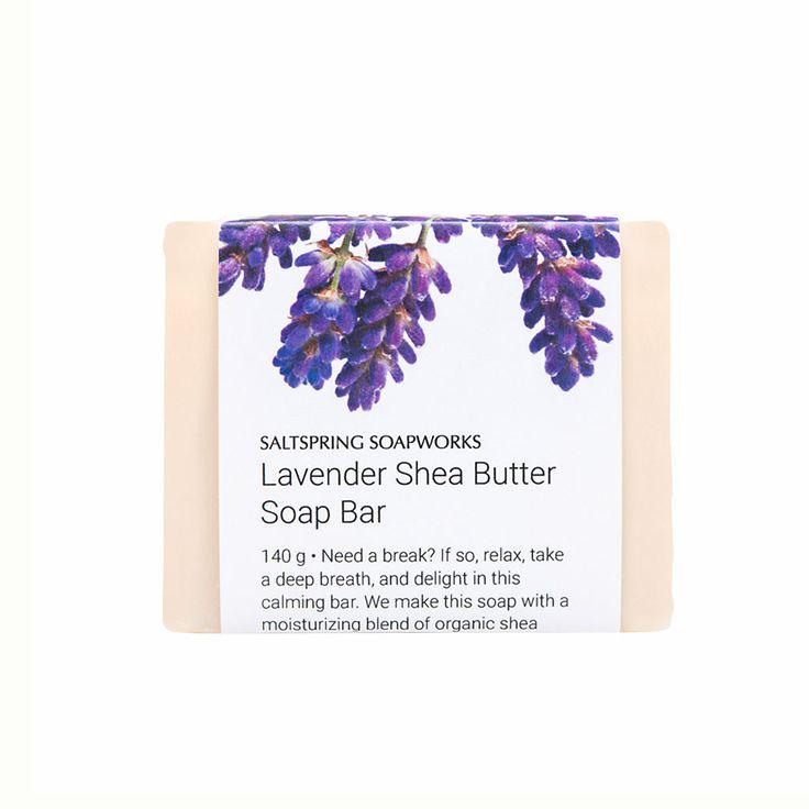 Lavender Shea Butter Soap Bar from Saltspring Soapworks