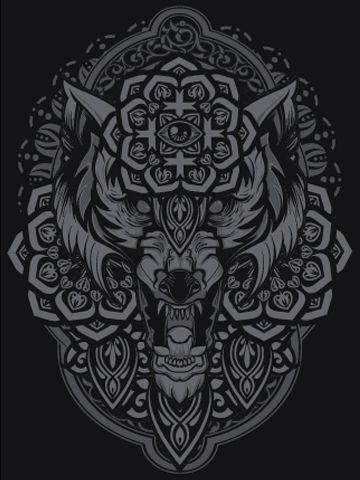 """Night Wolf"" Art Print by Hydro74"