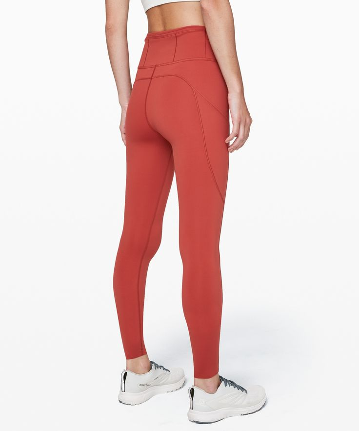 lululemon Women's Fast And Free High-Rise Legging 28″ Non-Reflective, Cayenne, Size 2