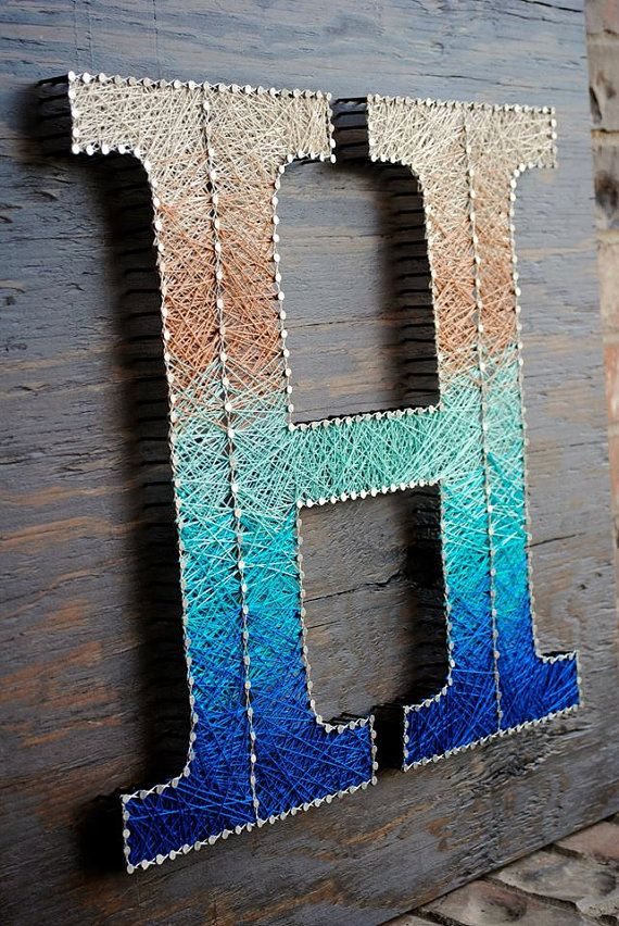 Letter String Art 24x24 by CClarkeDesigns on Etsy