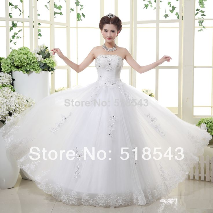 2016 нового сексуального белое свадебное платье с бантом пола длинное vestido без бретелек noiva кристалл узелок бальное платье свадебное платье
