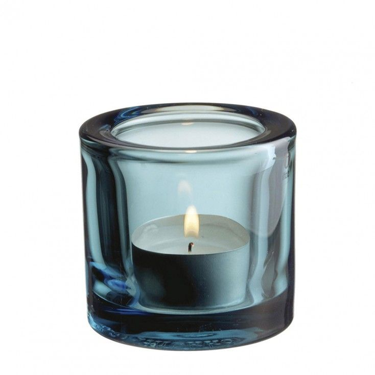 Iittala Kivi Sea Blue Tealight Holder