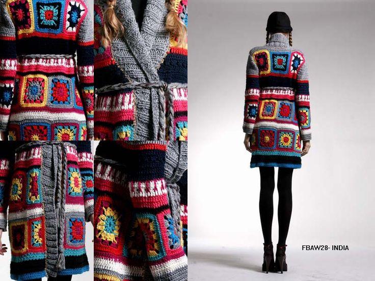 + granny blanket coat