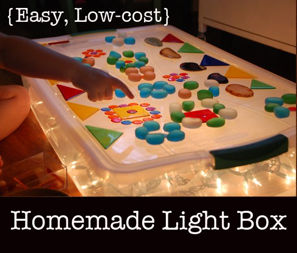 Homemade {Easy, Low-cost} Light Table ... such a brilliant alternative to the larger more expensive light tables!