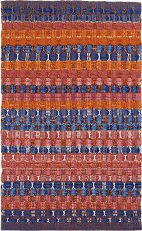 Anni Albers  Red and Blue Layers, 1954 cotton 24 1/4 × 14 3/4 ins. (61.6 × 37.8 cm) 1998.12.1