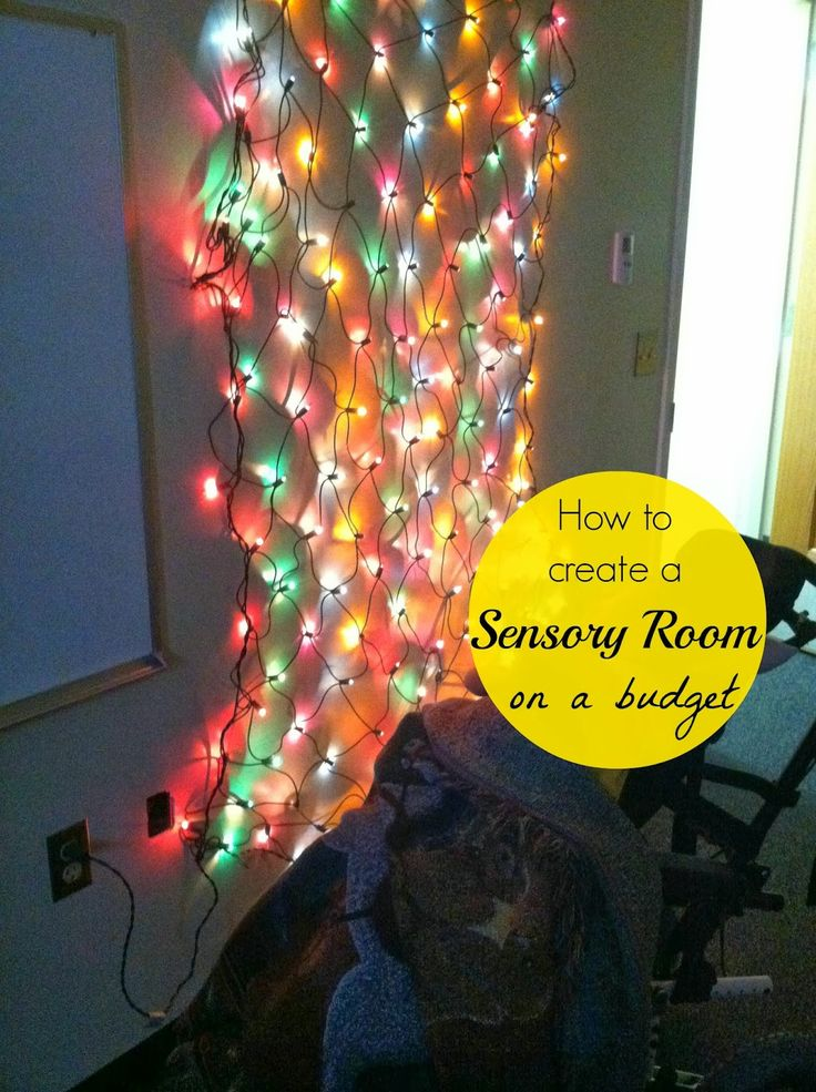 Tips for Creating a Sensory Room on a Budget. I even got most of our ever-evolving sensory items at garage sales. :)