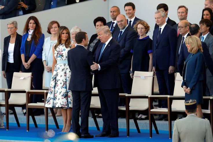Melania Trump Emmanuel Macron Doanld Trump