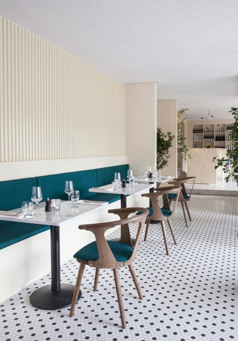 Italy Cofoco by Norm Architects - love the simplicity of design and the bold choice of colour <3 #CoffeeShop #Chair