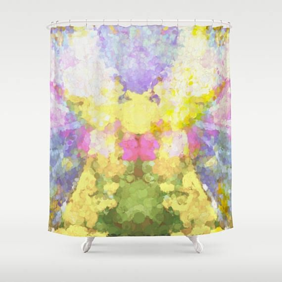 Custom Shower Curtain - Extra Long Shower Curtain Abstract floral print in pastels Any of my fine art photographs may be used; if you have a different image in mind lets talk! Matching Bath Mat HERE: https://www.etsy.com/listing/512182448 See more shower curtains HERE: http://etsy.me/25IHIHV  DETAILS: All items are custom made at the time of purchase, so please be sure you love what you are ordering. I cannot cancel or change orders All sales are final when ...