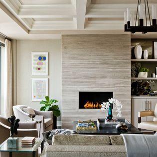 linear diffuser air conditioner registers The Bryant Back Bay - transitional - Living Room - Boston - Terrat Elms Interior Design
