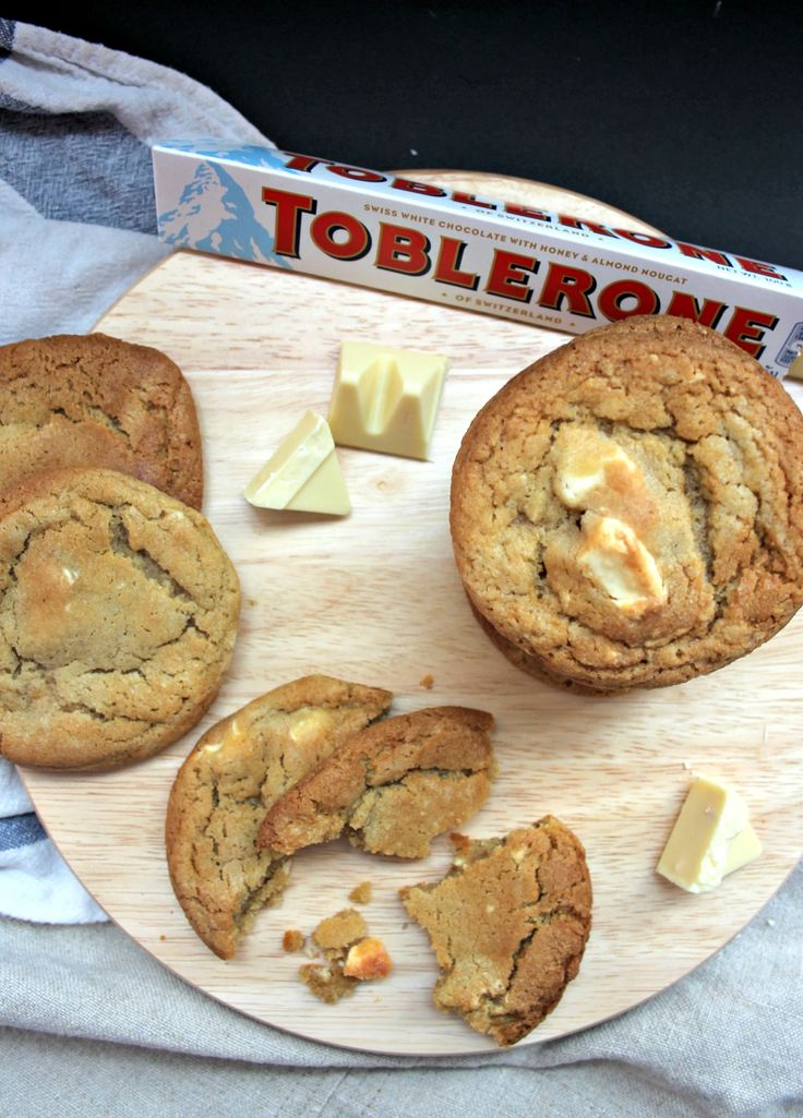 White Chocolate Toblerone Cookies www.scarletscorchdroppers.com