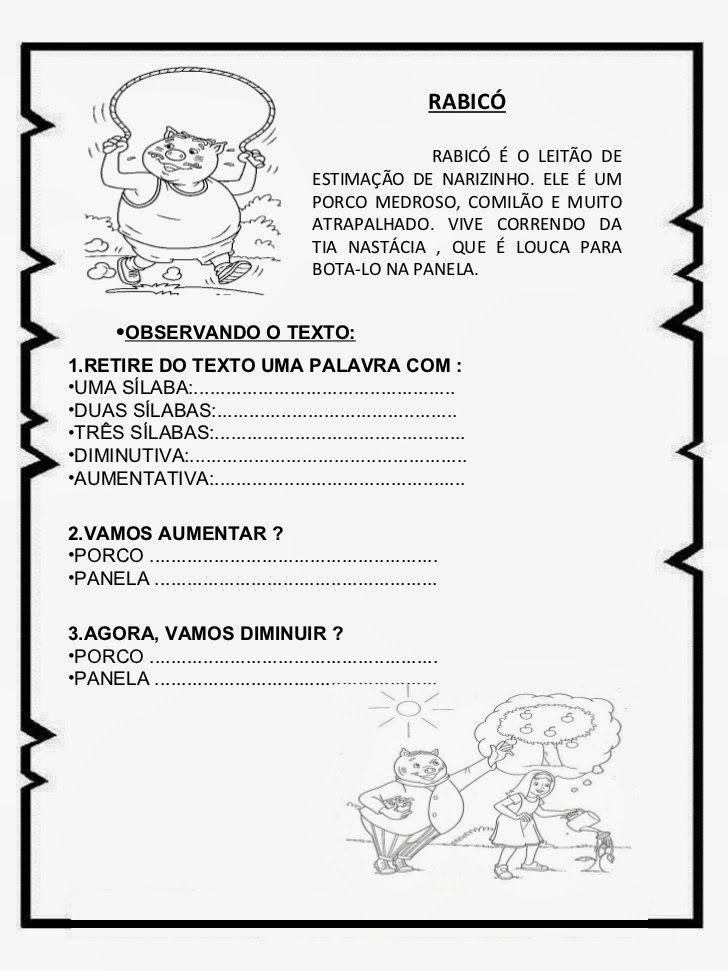 Pin Em Projeto Leitura Educacao Infantil