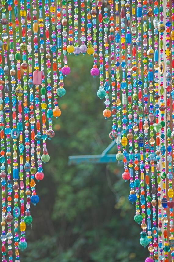 Boho Wedding Decorbeaded Door Curtain Arch Shape Door Beads Etsy Door Beads Beaded Curtains Hanging Beads