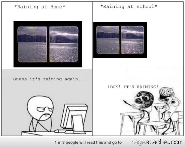 Raining (At Home and at School)